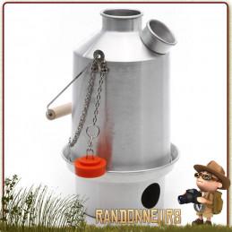 Bouilloire Bushcraft, Scout Kettle acier inoxydable de 1.2 Litres KellyKettle pour bouillir de l'eau au feu de bois