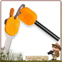 Pierre à Feu Striker Solo stove manche plastique allume feu firesteel survie bushcraft de randonnée