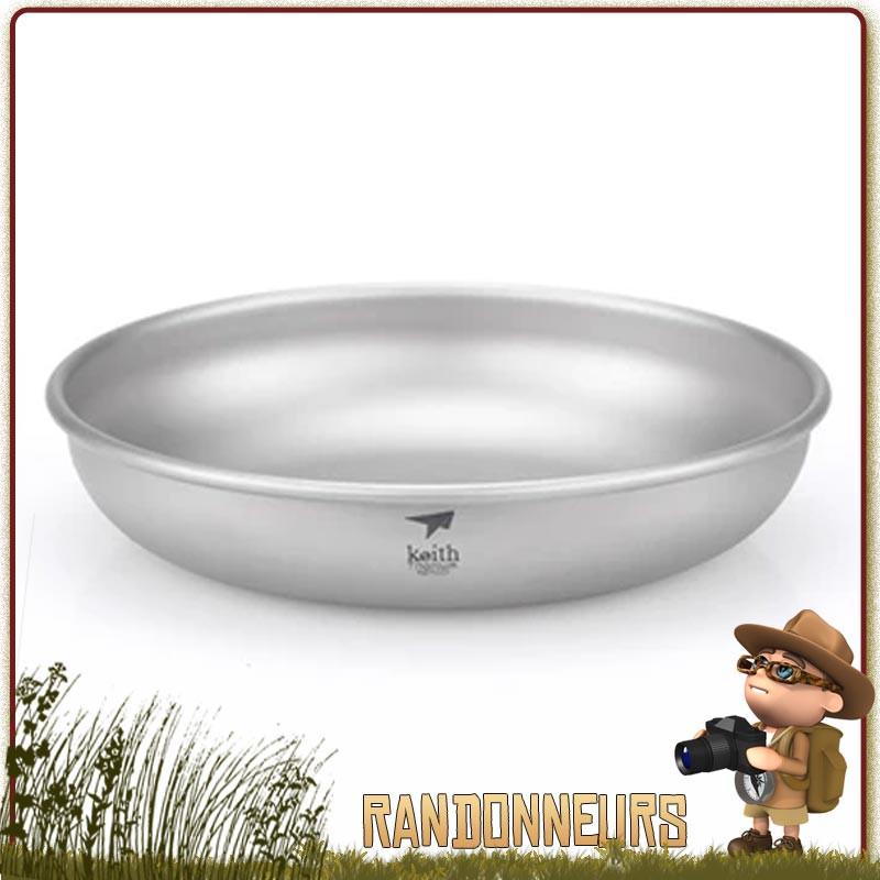 vaisselle titane bivouac leger Assiette titane keith ultra light et la randonnée minimaliste