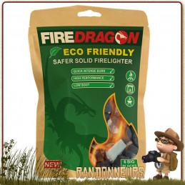 gel éthanol DragonFire BCB En sachet de 6 tablettes de 27 g avec opercule allume feu ou bien combustible pour réchaud éthanol