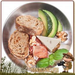 Assiette Tatonka acier inoxydable 18/8 de diamètre 23 cm pour bivouac bushcraft et camping