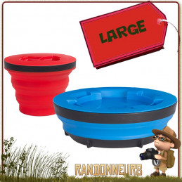 SET TASSE ET BOL XSEAL and GO LARGE SEA TO SUMMIT silicone alimentaire sans bpa ultra léger pour randonner et trekking