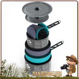 casseroles Alpha Pot de 1.2 et 2.7 Litres avec deux Mugs DeltaLight et deux bols DeltaLight sea to summit