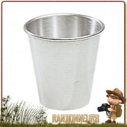 verre timbale aluminium 12 cl de camping cao Tasse alu résistante de camp bushcraft survie