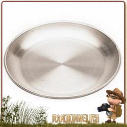 petite Assiette de Camping Aluminium 16 cm pour randonner léger trouvera facilement sa place dans votre vaisselle de camping