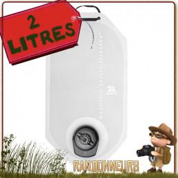 Sac réservoir Dromelite V2 MSR est à la fois un réservoir à eau et un sac hydratation qui s'adapte sur filtre msr