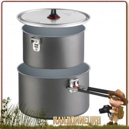 Set deux Casseroles Céramique Anti Adhésives MSR 1.5 et 2.5 Litres aluminium hard anodisé robuste non toxique