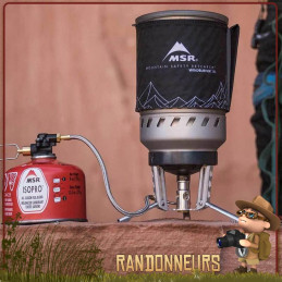 Popote Réchaud MSR Windburner Duo System popote 1.8L anti-adhésive répartiteur de chaleur bruleur tête radiante