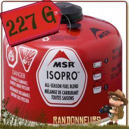 Cartouche de Gaz IsoPro 227g msr valve Lindal filetage 80% isobutane et 20% propane pour basses températures