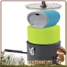 Popote de randonnée légère Trail Lite Solo MSR bol DeepDish, un gobelet isotherme, une casserole aluminium