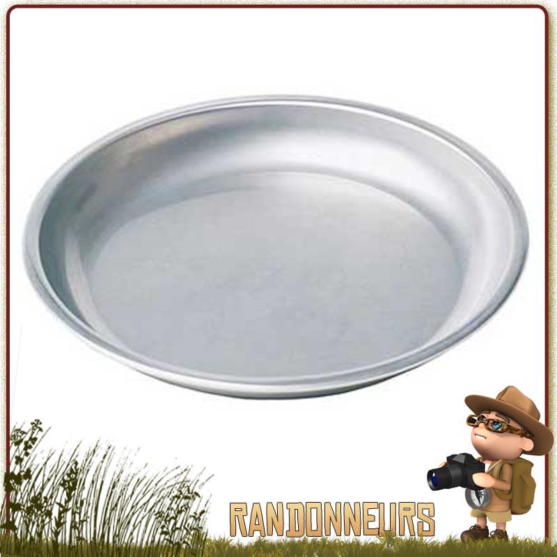 Assiette ultra légere en acier inoxydable MSR. Résistante, idéale pour la randonnée légère et le camping nature et bushcraft