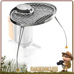 grill portable pour réchaud bois Biolite Camp Stove Barbecue nomade et portatif campement bushcraft.