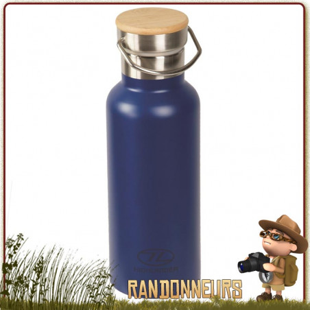 Bouteille Inox Isotherme CampSite 50 cl Highlander Bleue