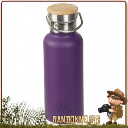 Bouteille Inox Isotherme CampSite 50 cl Highlander Aubergine