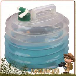 Jerrican accordéon plastique Eau Potable 10 Litres Highlander pour le camping et le stockage transport de l'eau