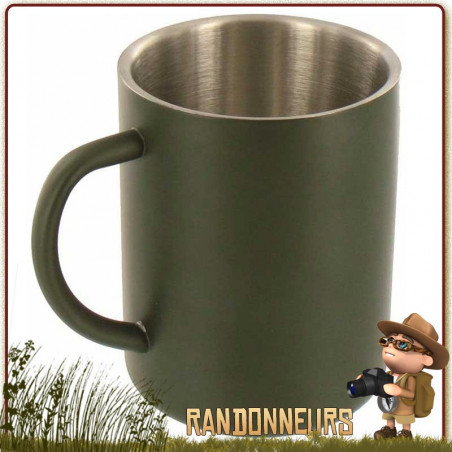 Mug Isotherme 30 cl Inox Vert Highlander